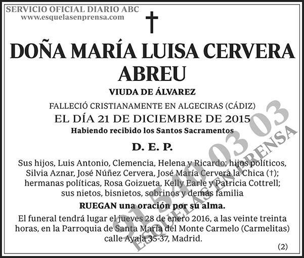 María Luisa Cervera Abreu